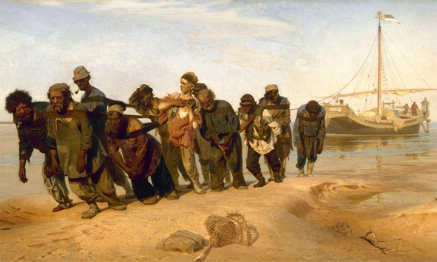 Ilya Repin, Volga Boatmen 1870-73